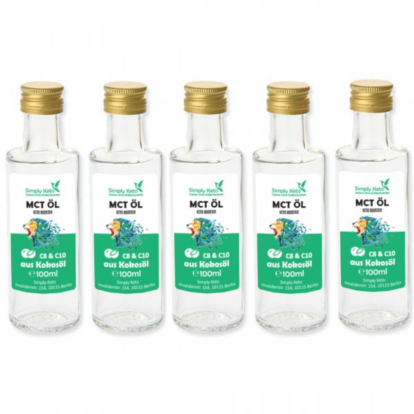 MCT-Öl 5x 100ml | VORTEILSPACK