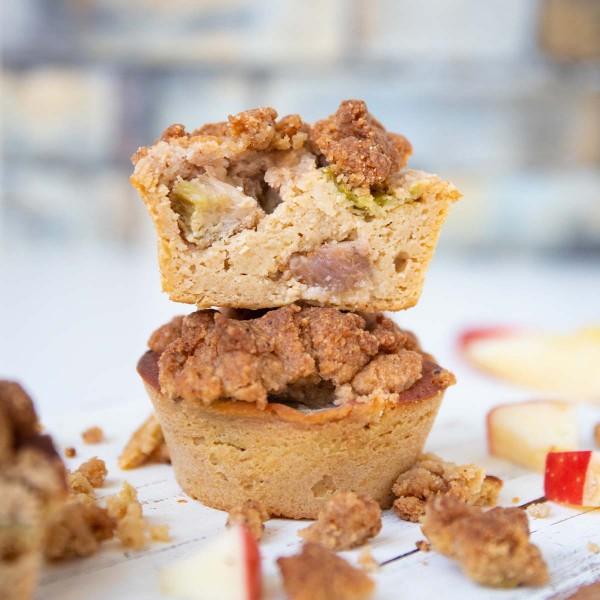 Apfel-Rhabarber Streusel Muffins 2er Pack