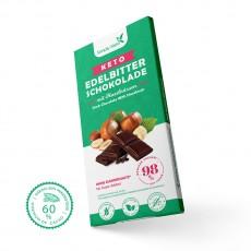 Keto Edelbitter Schokolade mit Haselnüsse | 60% Kakao