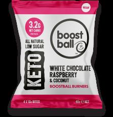 Raspberry White Chocolate Coconut Keto Balls