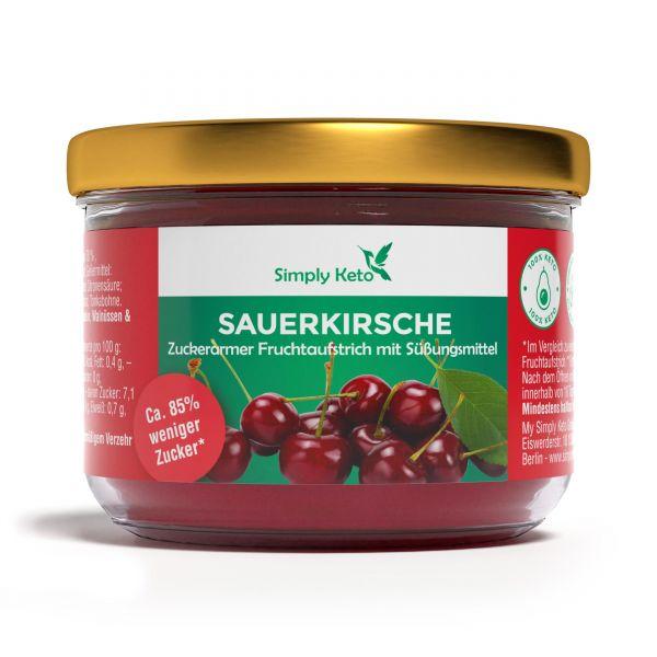 Simply Keto Sauerkirsche Fruchtaufstrich 230g mit Erythrit