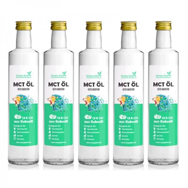 MCT-Öl 5x 500ml | VORTEILSPACK