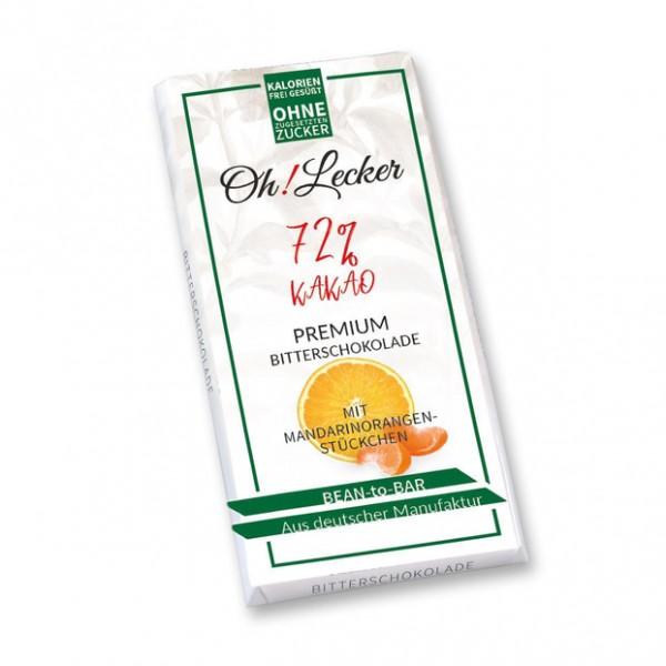 Schokolade | Edelbitter mit Mandarinorangenstückchen