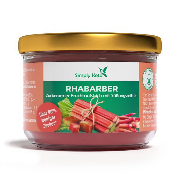 Rhabarber Fruchtaufstrich mit Erythrit 230 g