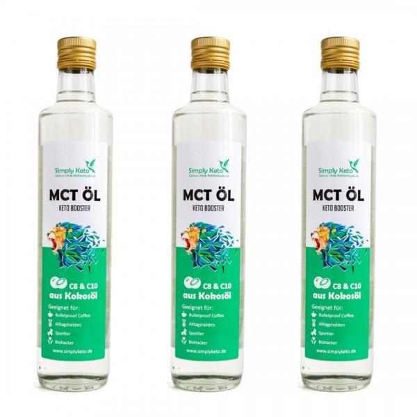 MCT-Öl 3x 500ml | VORTEILSPACK