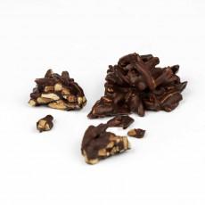 Mandelsplitter mit Edelbitterschokolade