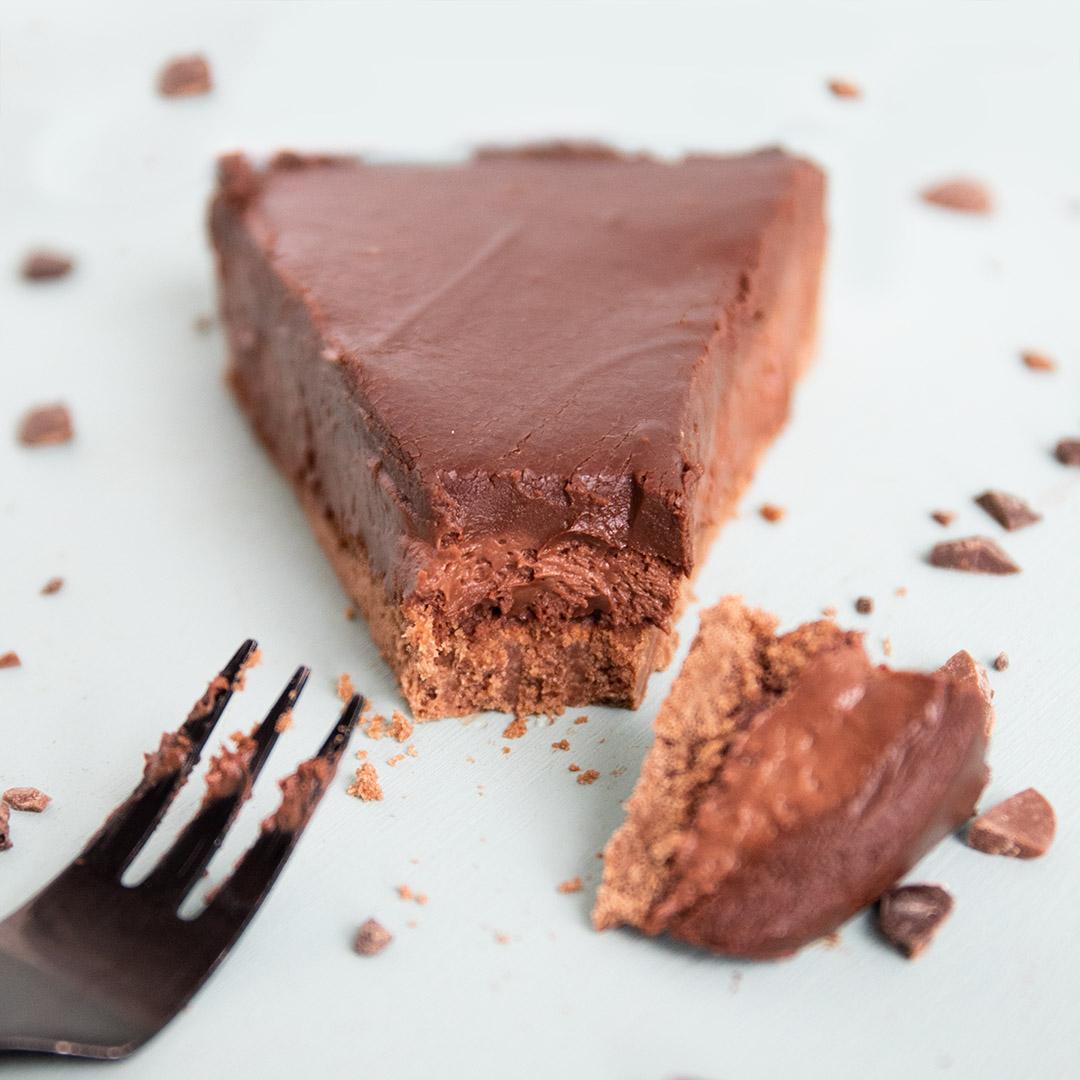Low-Carb & Keto Mousse au Chocolat Tarte