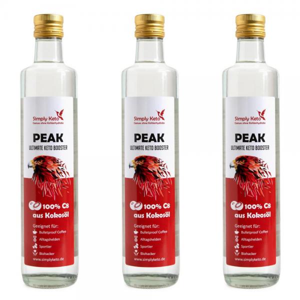 Peak C8-Öl 3x 500ml | VORTEILSPACK