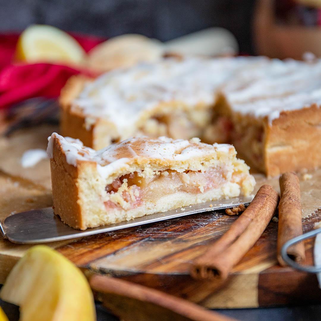 Low-Carb & Keto gedeckter Apfelkuchen