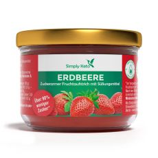 Erdbeer Fruchtaufstrich mit Erythrit 230g